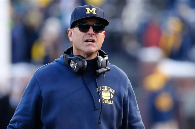 Jim Harbaugh, Sporting A Michigan Mask, Takes Part In Anti-Police Brutality March