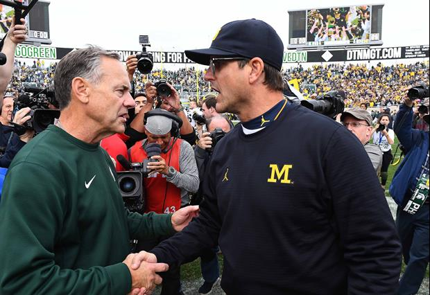 Michigan head coach Jim Harbaugh Goes After Michigan State head coach Mark Dantonio On Twitter