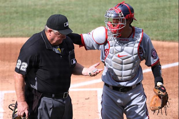 Scary Moment When MLB Umpire Joe West Took Bat Swing To The Head Today