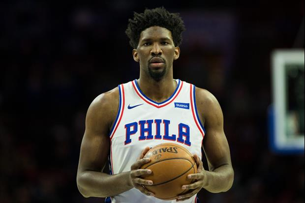 Rapper Meek Mill Hit Sixers Star Joel Embiid In The Face With His Nice  Birthday Cake a73f234ec