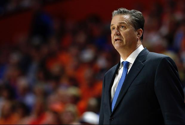How Obnoxious Was John Calipari Surrounded By Former Players' Jerseys During Interview