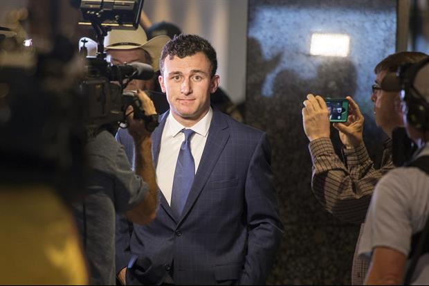 Johnny Manziel Looking All L.A.-Like Coming Out Of L.A. Club Talking About XFL