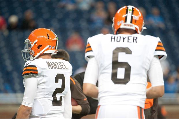 Browns QB Brian Hoyer will continue to start over rookie Johnny Manziel.