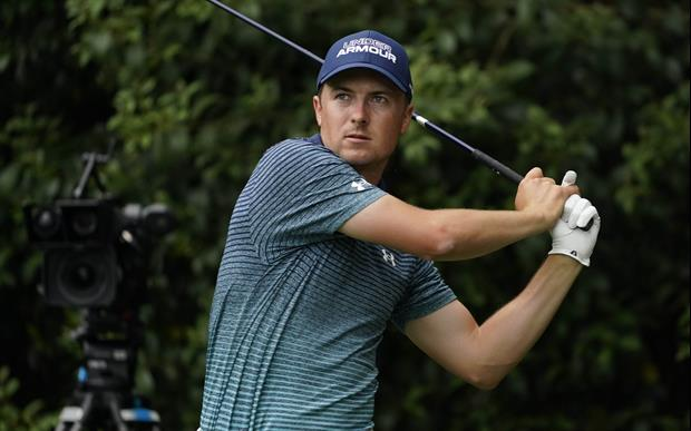 Check out Jordan Spieth's nice eagle during first round at The Masters on Thursday evening.