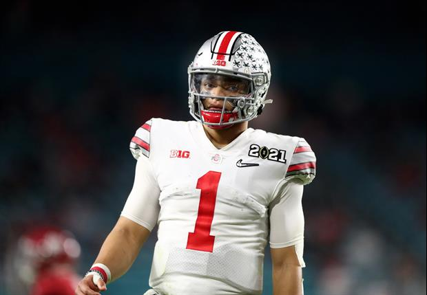 Check Out Ohio State QB Justin Fields Impressive 40-Yard Dash Time............