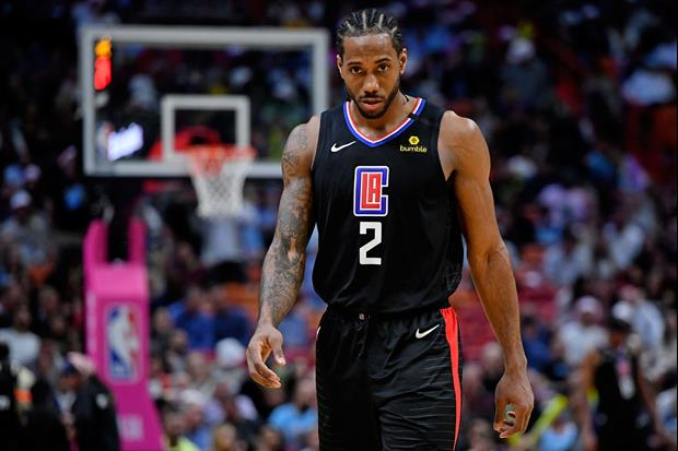 Clippers star Kawhi Leonard wears his own jersey when on vacation...