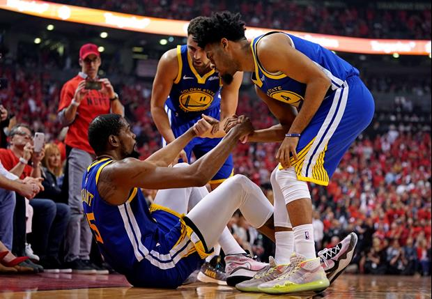 Warriors GM Bob Meyers Visibly Emotional Announcing Durant Suffered An Achilles Injury