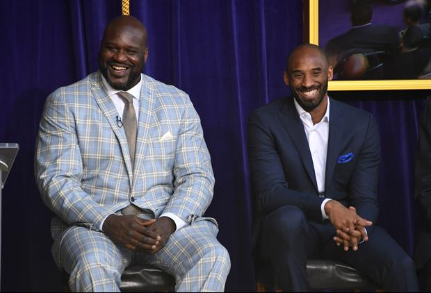 Watch Shaquille O'Neal Get Emotional Talking About Kobe On 'Inside The NBA'
