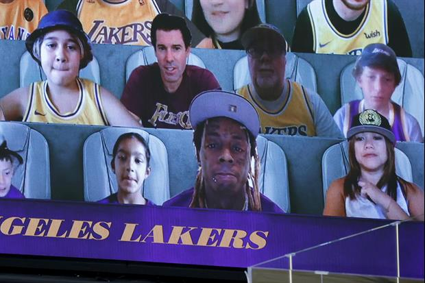 Virtual Lakers Fan Caught Shaving During Last Night's Game