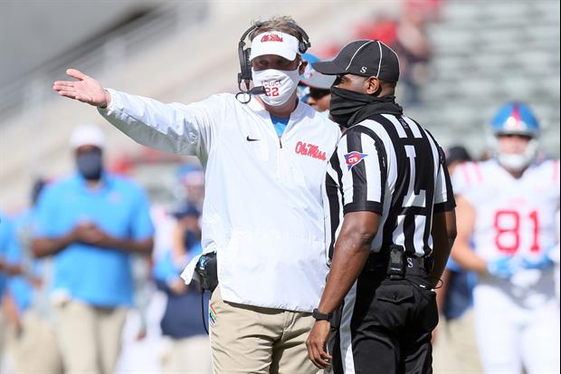 Lane Kiffin Is Still Very Upset With SEC's Officials About Last Weekend's Terrible Call
