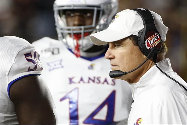 Here Was Les Miles' Message To College Football After Kansas' Win