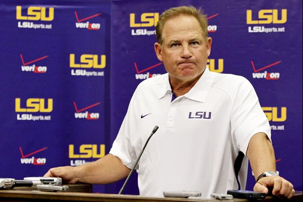 Les Miles addressed the media after practice on Wednesday.