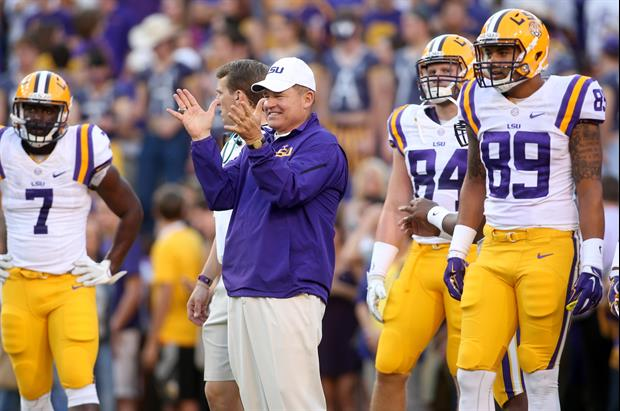 Les Miles talked on the SEC Coaches Teleconference Wednesday Oct 29