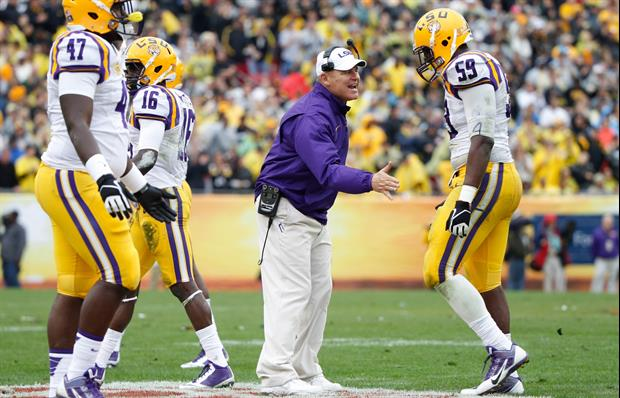 LSU is projected to play the Texas Longhorns in the Texas Bowl