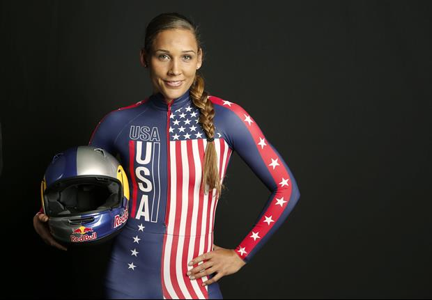 Lolo Jones Tells Us Where She's Been While Sporting Red Spandex