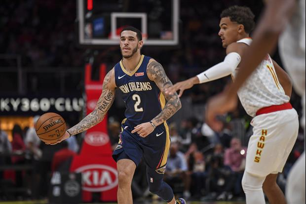Check out New Orleans Pelicans guard Lonzo Ball try to keep up with the crazy layups of YouTube star
