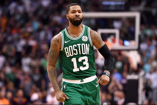 Watch Celtics Marcus Morris Shove Jaylen Brown On Bench During Timeout
