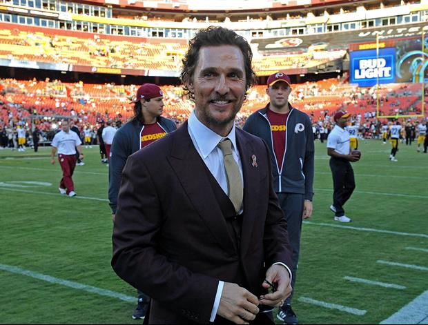 Matthew McConaughey Posts Message And Pic For Texas Longhorns