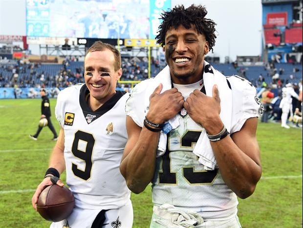 Sure Looks Like Michael Thomas Was Throwing Shade At Drew Brees' Arm During NFC Title Game