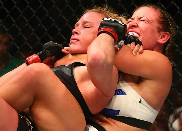 Here's Miesha Tate Beating Holly Holm By Submission In 5th Round