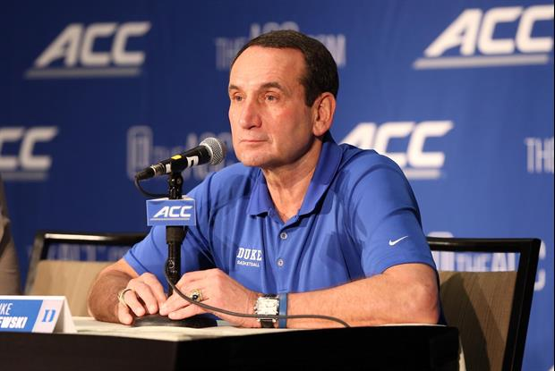 Mike Krzyzewski Is Getting Criticized For His Response To Duke Student Reporter's Question