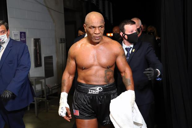 55-year-old boxing legend Mike Tyson has no fights on the horizon, but he's still training like he d