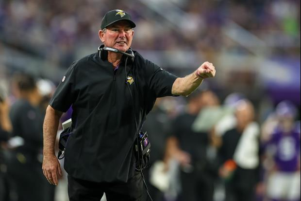 Vikings Head Coach Mike Zimmer Hid His Chewing Tobacco In A Sunflower Seed Bag