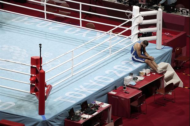 Olympic French Boxer Refused To Leave The Ring For An Hour To Protest Getting DQ'd