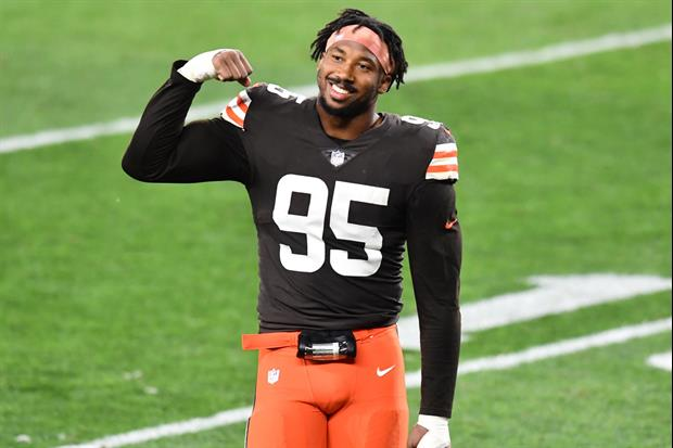 Watching Browns Star Myles Garrett Play Basketball Is A Scary Sight