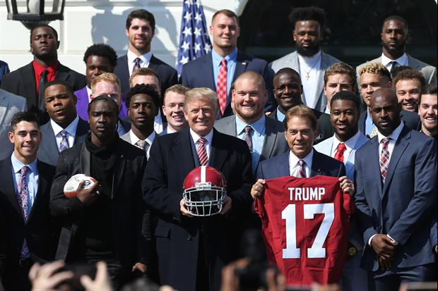 This Is Who Nick Saban Says He Calls From Inside The White House, he called recruits...
