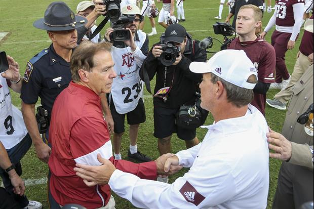 This Video Of Nick Saban Running Off The Field Has Gone Viral