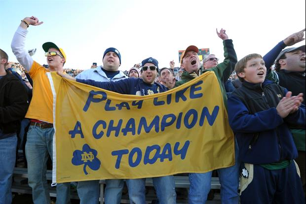 Notre Dame Was Call People Out About Social Distancing With Graphic On Jumbotron