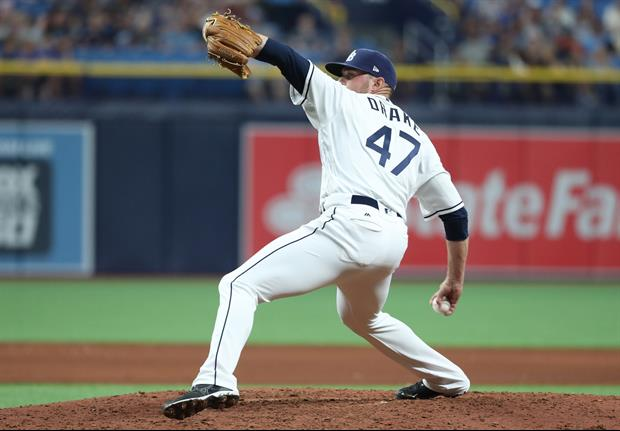 Tampa Bay Rays pitcher Oliver Drake threw an incredible splitter last night against the White Sox th