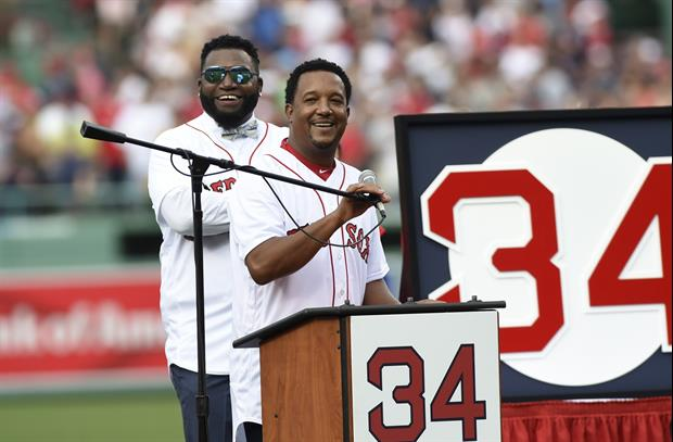 Former Red Sox Pitcher Pedro Martinez Breaks Down Crying Talking About David Ortiz