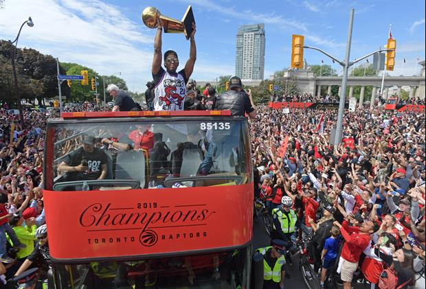 Gunshots were fired at the Toronto Raptors victory parade on Monday. Now video has surfaced of cops