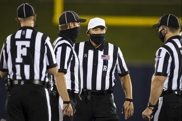 Eastern Washington/Idaho Ref Too Busy Fixing Mask To See If Field Goal Went Thru Uprights