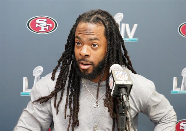 49ers' Richard Sherman Is Not Too Happy Off About Cam Newton's Contract