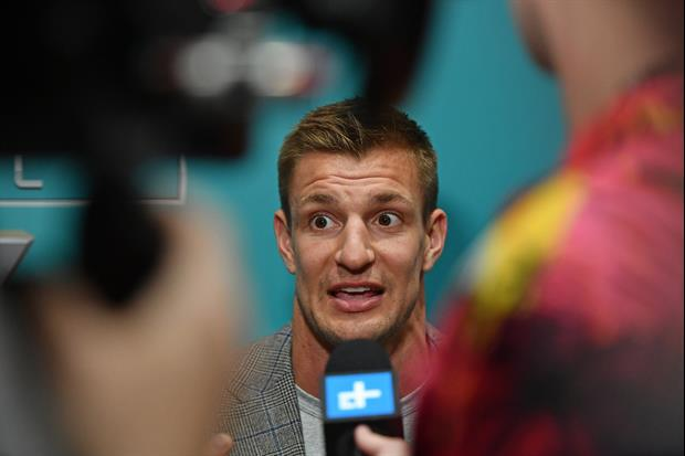 Rob Gronkowski Loses His WWE Title While Filming TikTok Video In His Backyard