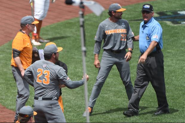 Tennessee Coach Ross Kivett Goes Ballistic Over His Ejection