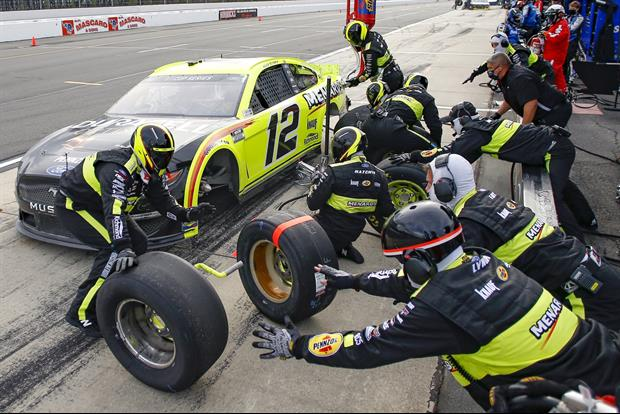 Watch Ryan Blaney's Crew Member Get Hit In Crazy Crash On Pit Road At Indianapolis