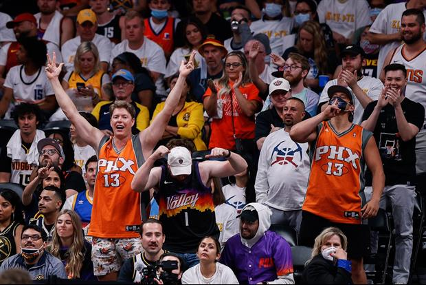 Suns Fan And Nuggets Fan Exchange Haymakers In Stands