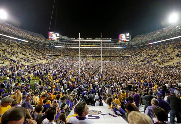 LSU will be fine for fans rushing the field after the Ole Miss victory.