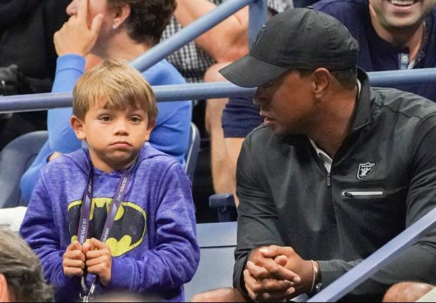 Tiger Woods & Son Hit The Driving Range To Display Their Smooth Swings