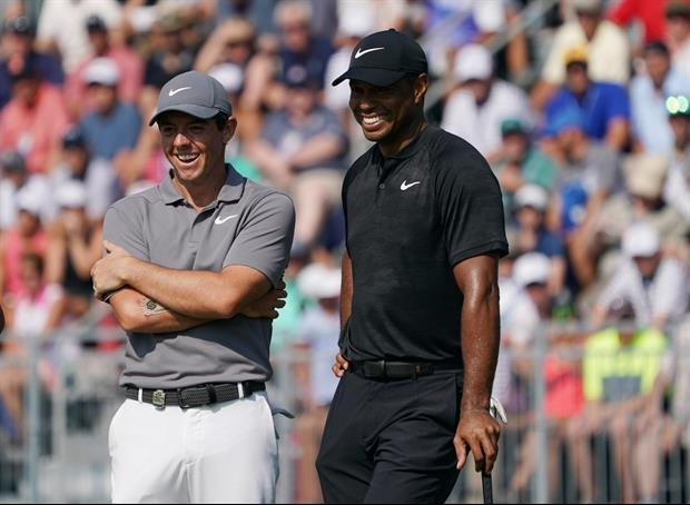 Tiger Tended The Pin For Rory, Dared Him To Hit A Shot Close To Him, And...