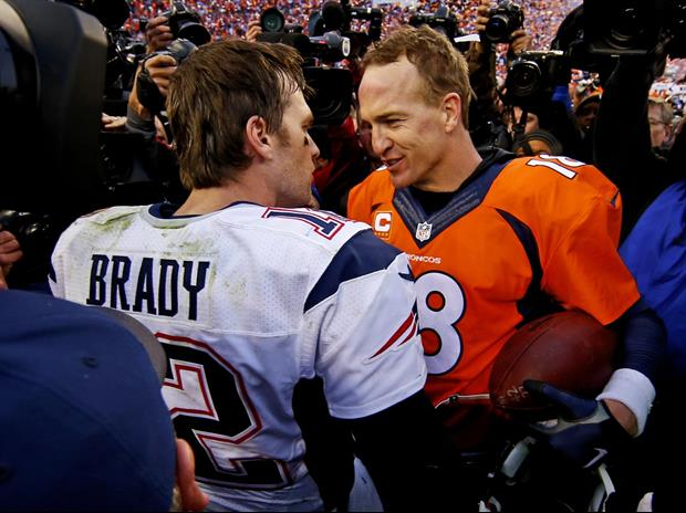 New England Patriots QB Tom Brady was hanging out with his old foe Peyton Manning this week. And the