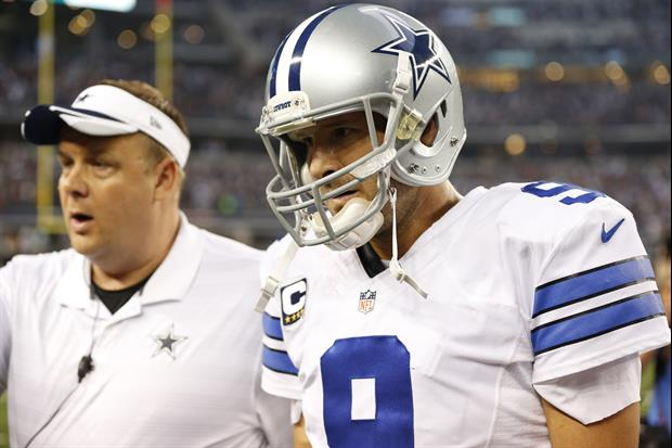 Tony Romo injured his back on Monday night football against the Redskins.