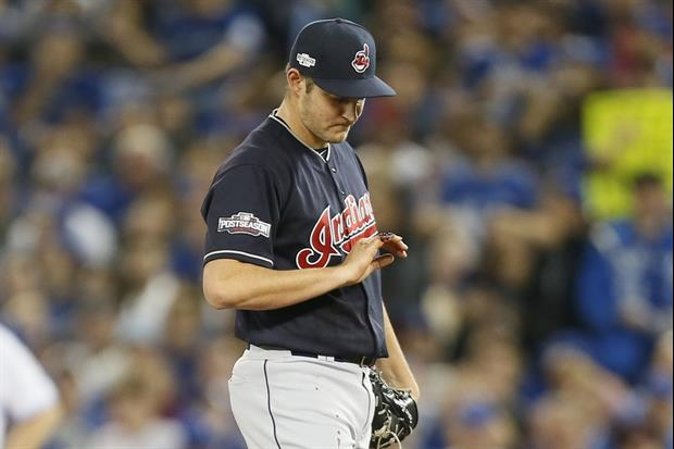 Indians Pitcher Trevor Bauer's Pinkie Gushing Blood At Mound During ALCS