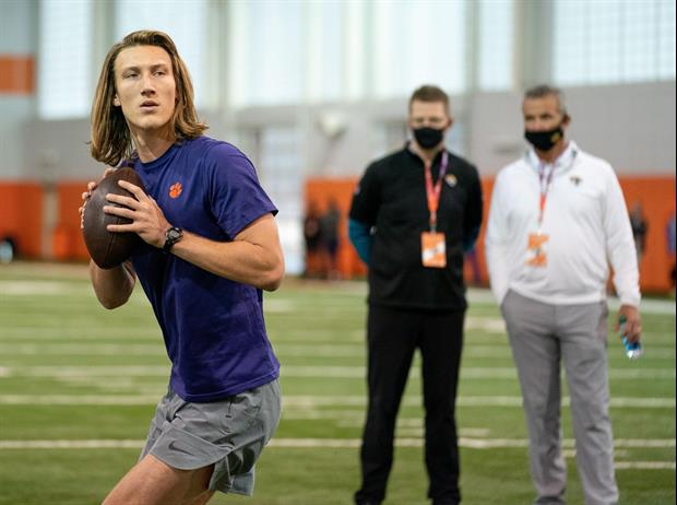 Trevor Lawrence Has Massive Hands & A Rocket Arm To Boot
