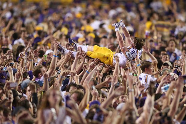 LSU was fined $5,000 by the SEC for the fans rushing the field.