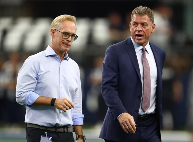 Hot Mic Appears To Catch Troy Aikman, Joe Buck Mocking Flyover Before Packers/Bucs Game